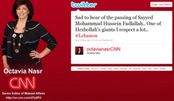 Octavia Nasr's tweet