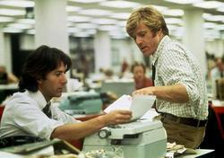 Woodward and Bernstein as depicted in an 'All the President's Men' still