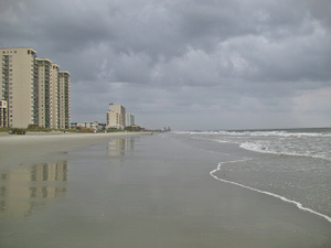 A storm rolls in at Myrtle Beach