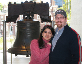 The Liberty Bell, hubby and I