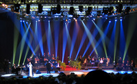 Majida performs amid the stunning lights
